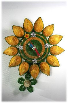 ** Quilling - hodiny **