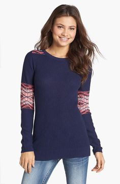 Rubbish® Fair Isle Patch Sweater  available at #Nordstrom