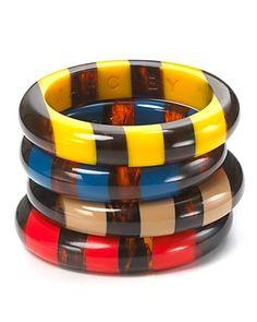 resin stripe bangles