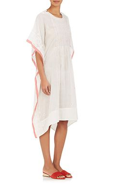 Pero Embroidered Cotton Voile Caftan Dress - Dresses - 505015866