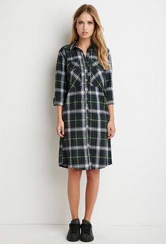Tartan Plaid Midi Dress