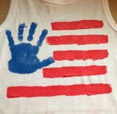 Flag hand print shirt