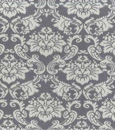 "Home Essentials 45"" Fabric-Grey Damask Bedroom"