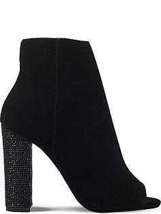 MISS KG Slender jewelled heel velvet ankle boots