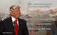 10 Reasons Anti-War Candidate Republican Donald Trump Reeks of War