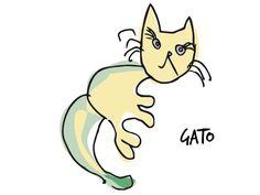 Gato, logo, Producciones Pantuás, Diseño Gráfico, Elena Povo