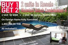 Pattaya Condo for sale: 2 units in Resale Mountain Beach Condominium 4 center Pattaya Soi Yume near Big C Extra, fully furnished, fully fitted, ready to move in, on foreign name, second floor,  1 bedroom 42 sqm, 1 Studio 30 sqm, with rental return, selling for only 1,850,000.00 THB including transfer, call 800 176 100 or look: http://condoforsalethailand.net/2-units-in-mountain-beach-condominium/