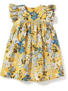 Floral-Print Flutter-Sleeve Dress for Baby | Old Navy