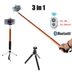 Extendable Handheld Bluetooth Selfie Stick Monopod For iPhone Samsung HTC Phone #ESTONE