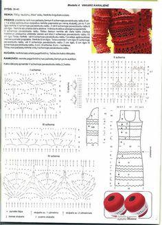 Crochetemoda: Vestido Vermelho de Crochet V