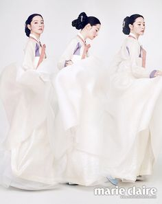 Lee Young Ae Elevates the Korean Hanbok to a Work of Beautiful Art in Marie Claire Korea Korean Hanbok, Korean Dress, Korean Outfits, Korean Traditional Dress, Traditional Fashion, Traditional Dresses, Korea Fashion, Asian Fashion, Korean Design