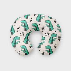 Green Dinsoaur Boppy Cover - Organic Cotton