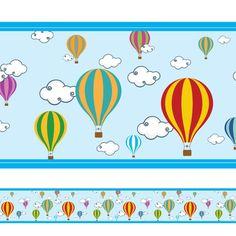Faixa Decorativa Balões:Transforme o quarto do seu filho com esta linda faixa decorativa.Medidas: 118x17cm (Largura x Altura)