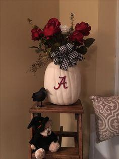 Fall Alabama Crimson Tide pumpkin.