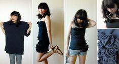 Como transformar camisetas em vestidos customizados - moda e customização