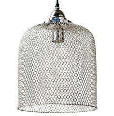 Open and inviting, the dome-shaped silver mesh pendant lamp adds sparkle, style and illumination to your home. Combining modern and Industrial décor, this slender single light is sophisticated yet simple.