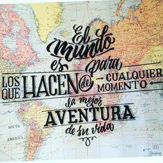 """""""El mundo es para los que hacen de cualquier momento la mejor aventura de su vida."""" Porqué #viajar y #estudiar en otros países nos enriquece ➡️ www.spaniainternational.com"""