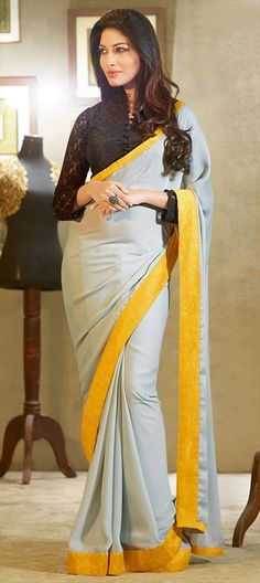 Lace blouse with color block saree...gorgeous and so versatile