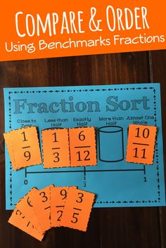 Fraction Sort: Comparing and Ordering Using Benchmark Fractions. Amazing game for any grade 3rd - 7th!