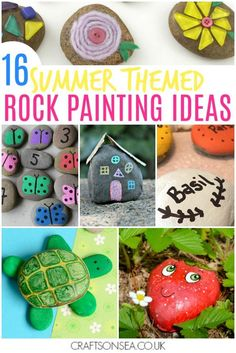 rock painting ideas for kids easy tutorials for summer #kidsactivities #summercamp #craftsforkids #rocks
