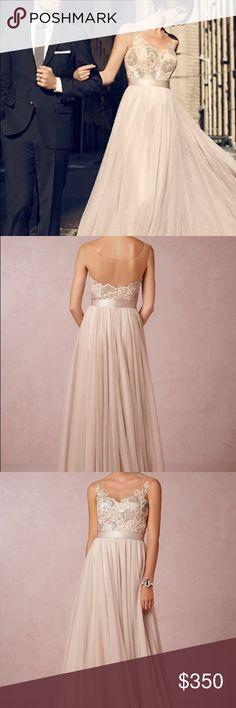 BHLDN Lucca Maxi Antique Rose Wedding Dress Beautiful antique rose wedding dress...no alterations. Watters Dresses Wedding