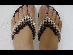 Sandálias Decoradas com Pérolas e Pitangas Raio de Sol - Maguida Silva - YouTube