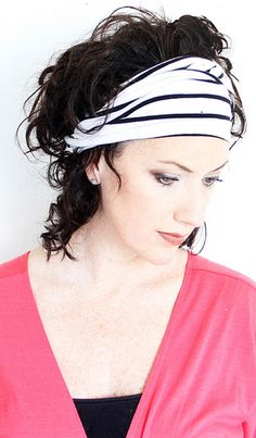 DIY turban from recycled tshirt; http://alisaburke.blogspot.com/2012/02/fashion-friday-turban-headbands.html