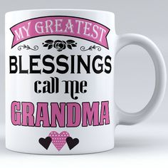 Personalized My Greatest Blessings Call Me Grandma Ceramic Mug by ZweetyShop on Etsy