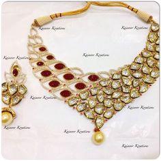 #Kundan #set #gold #plated Enquiries : 00447448472033 (watsapp/Viber) Email : Kainoork@gmail.com