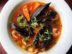 Fish soup with tomato and thyme