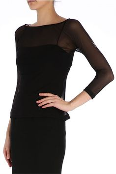 Tops - Onyx Mesh Embeshed Top