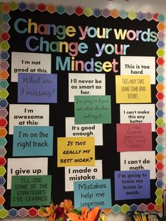 Growth mindset bulletin board - Excellent DIY Classroom Decoration Ideas & Themes to Inspire You Classroom Bulletin Boards, Classroom Door, Science Classroom, Classroom Organization, Bulletin Board Ideas For Teachers, Counseling Bulletin Boards, Future Classroom, Bulletin Board Ideas Middle School, English Bulletin Boards