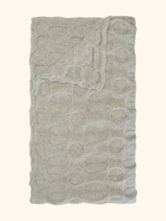 Bubble Knit Cashmere Throw in Fumo Grey - N.PEAL Luxury Cashmere