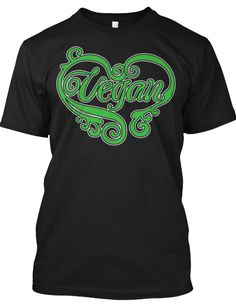 Vegan Heart - Canvas Ringspun Tee - Black - Other Options Available - Click Image To Purchase  http://teespring.com/veganheart2