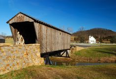 Picture of Covered Bridge leads to rural church, KY | PlanetWare