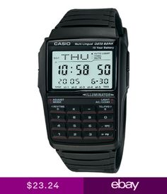 80658090ee4e6 Casio Mens Quartz Illuminator Calculator Black Resin Band 41mm Watch  DBC32-1A