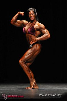 Female Bodybuilder Angela Salvagno - 2011 IFBB PBW Tampa Pro - 6th Place
