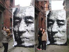 Sock Portrait of Zhang Yimou