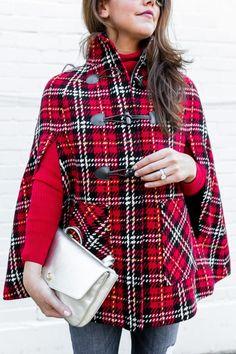 Tartan Cape | Dallas Wardrobe Fashion Blog