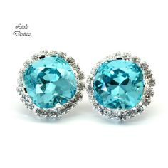 A personal favorite from my Etsy shop https://www.etsy.com/listing/289923321/blue-bridal-earrings-turquoise-earrings