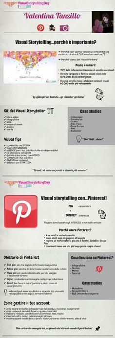 #Infografica dedicata al #visualstorytelling su #Pinterest e non solo...!) Contenuti: Valentina Tanzillo Fonte: Alessandra Toni