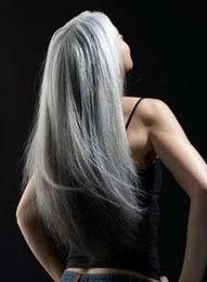 Beautiful silver hair.