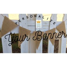Wedding Burlap Banner! Personalize your banner for ANY occasion! by QueensBanners