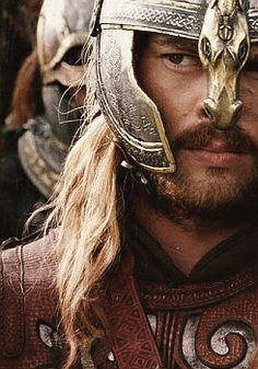 Karl Urban as Eomer in LOTR (when I first fell in love with him.