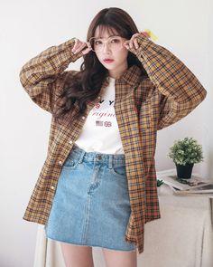 Rococo Check Southern NB coreanos amberlpreston Source by oharatatyana coreanos Korean Fashion Winter, Korean Fashion Trends, Korean Street Fashion, Asian Fashion, Japanese Outfits, Korean Outfits, Japanese Fashion, Summer Outfits, Casual Outfits