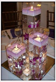 Wodnerful DIY Unique Floating Candle Centerpiece With Flower Wedding Flowers, Beautiful And Inexpensive Purple Wedding Centerpieces: inexpensive wedding flowers. wedding flowers Wodnerful DIY Unique Floating Candle Centerpiece With Flower Purple Wedding Centerpieces, Floating Candle Centerpieces, Diy Centerpieces, Inexpensive Centerpieces, Homemade Wedding Centerpieces, Turquoise Centerpieces, Reunion Centerpieces, Quinceanera Centerpieces, Wedding Bouquets