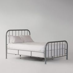 Hamilton Bed  $1,250.00  Hamilton's clean lines take their cue from early 20th century iron bedsteads. Handcrafted in North Carolina exclusively for us, it's built to last with a durable welded steel frame and powder-coat finish.