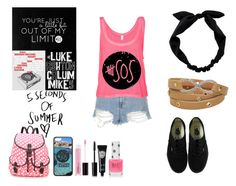 """""""5 Seconds of Summer"""" by fluffykitteh ❤ liked on Polyvore featuring Topshop, Vans, RyuRyu, MAC Cosmetics, Eyeko and Aéropostale"""