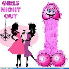 Pink Willy Pinata Hen Night Party Fun Game Large Smash Girls Ladies day out 19''