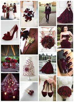 Inspiration Board: Oxblood Wedding – Blissfully Wed